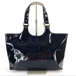 Tory Burch Patent Leather Bombe Tote